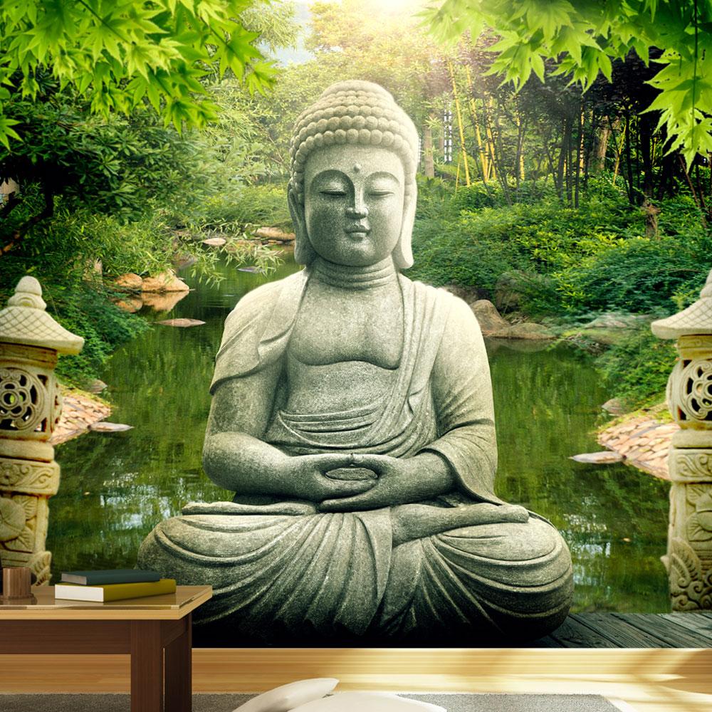Fototapeta - Buddha's garden 100x70