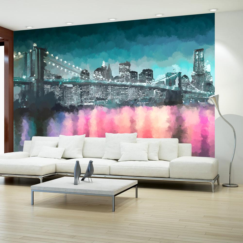 Fototapeta - Painted New York 100x70