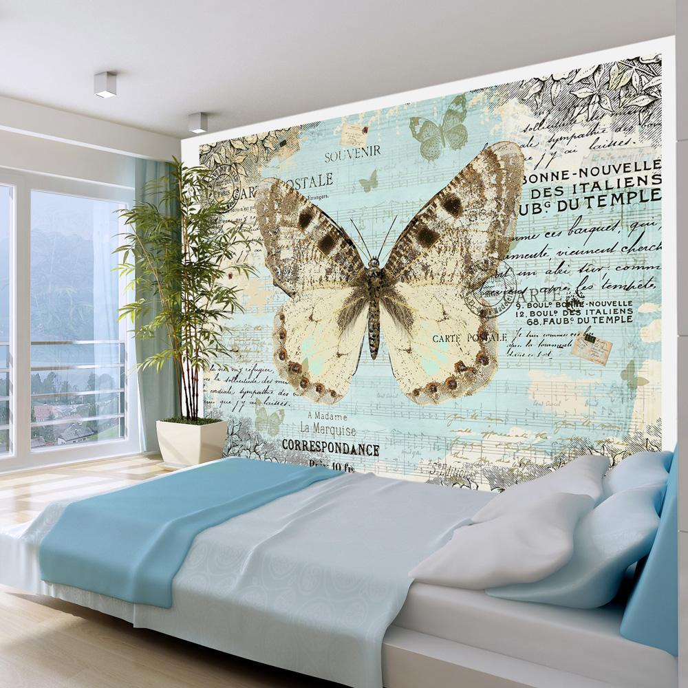 Fototapeta - Postcard with butterfly 400x280