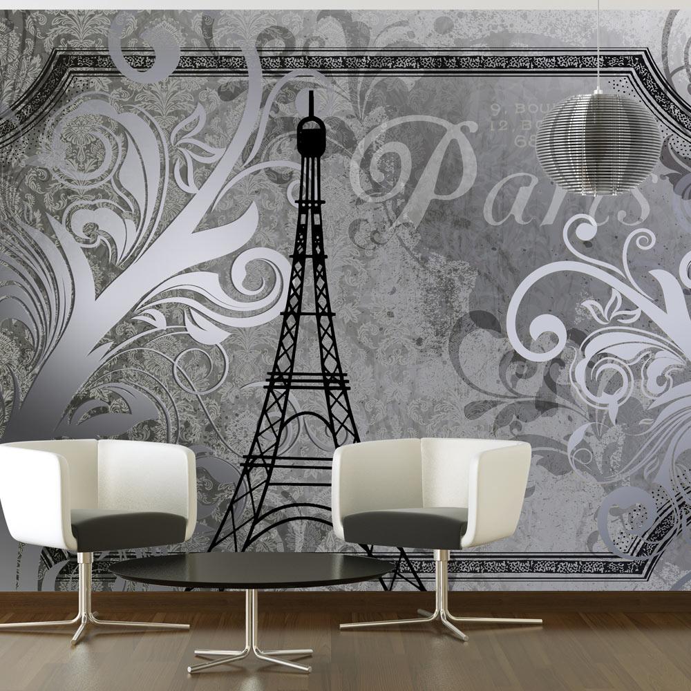 Fototapeta - Vintage Paris - silver 350x245