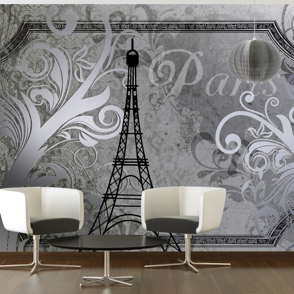 Fototapeta - Vintage Paris - silver 250x175