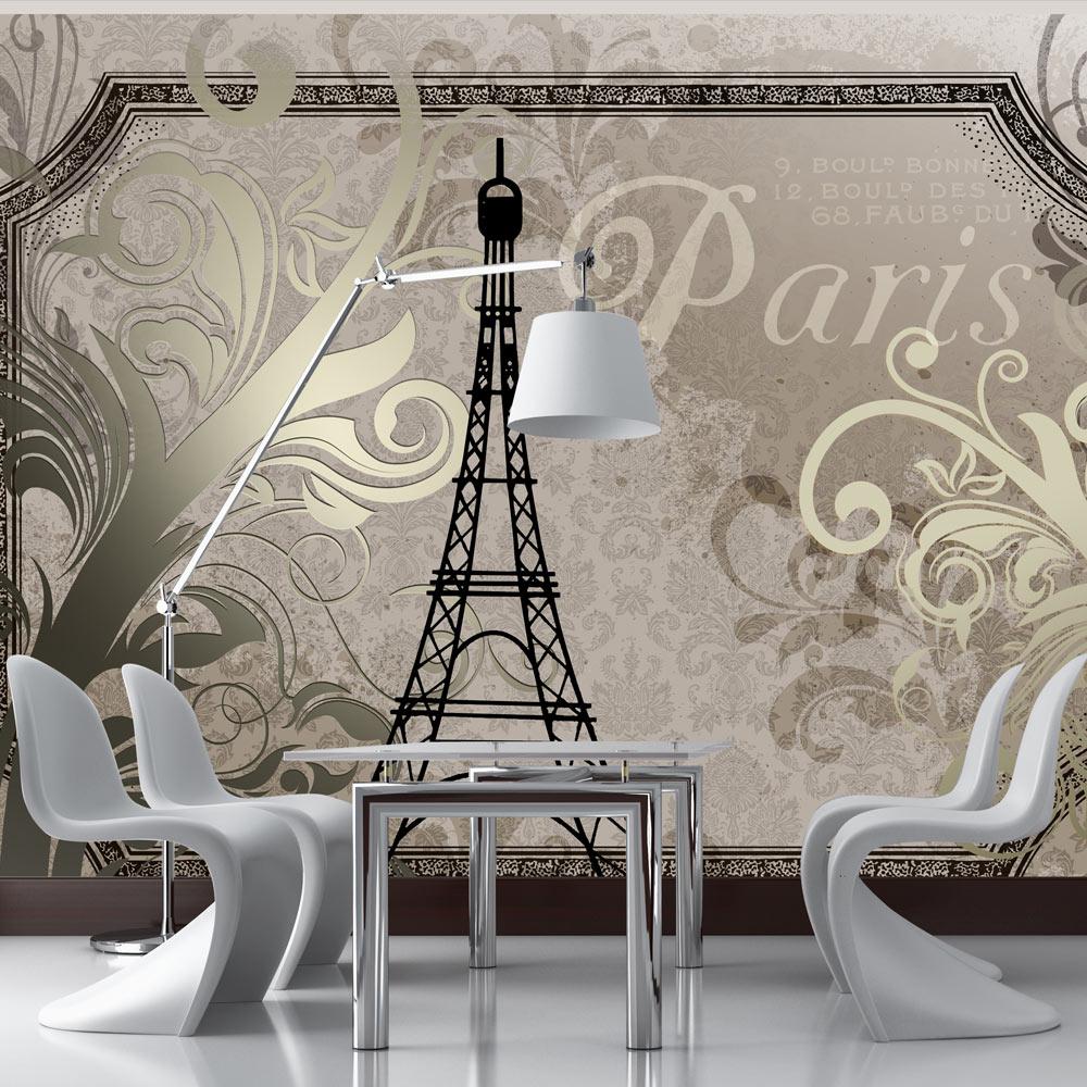 Fototapeta - Vintage Paris - gold 100x70