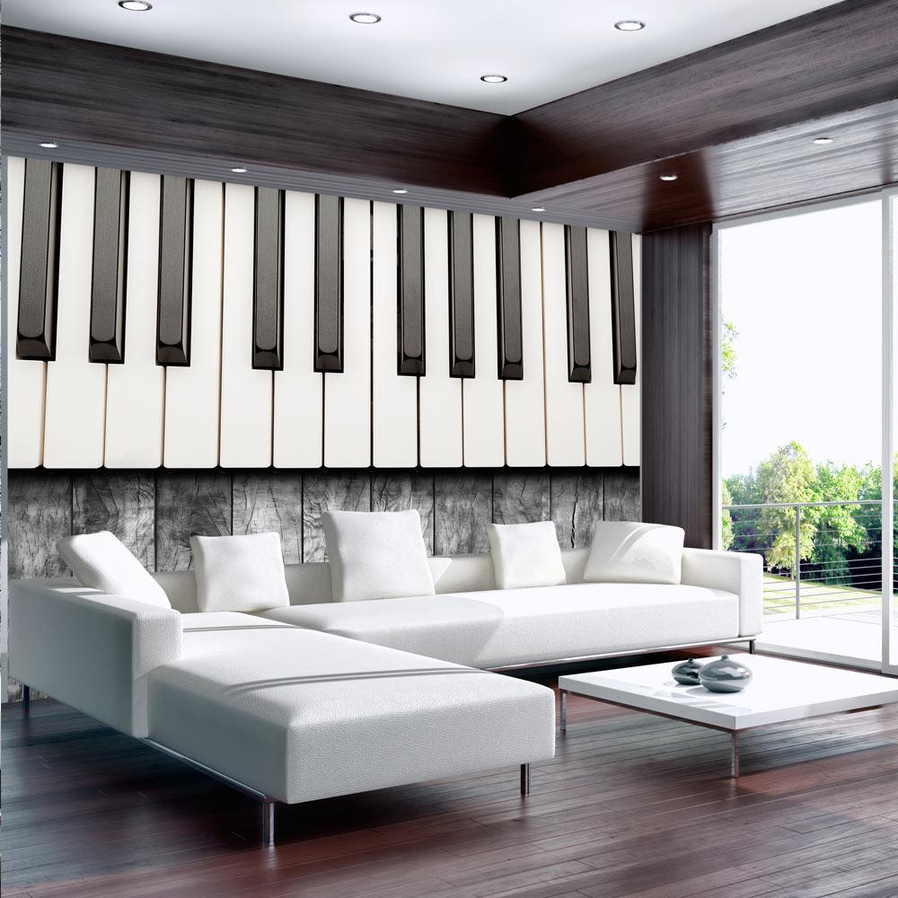 Fototapeta - Inspired by Chopin - grey wood 150x105