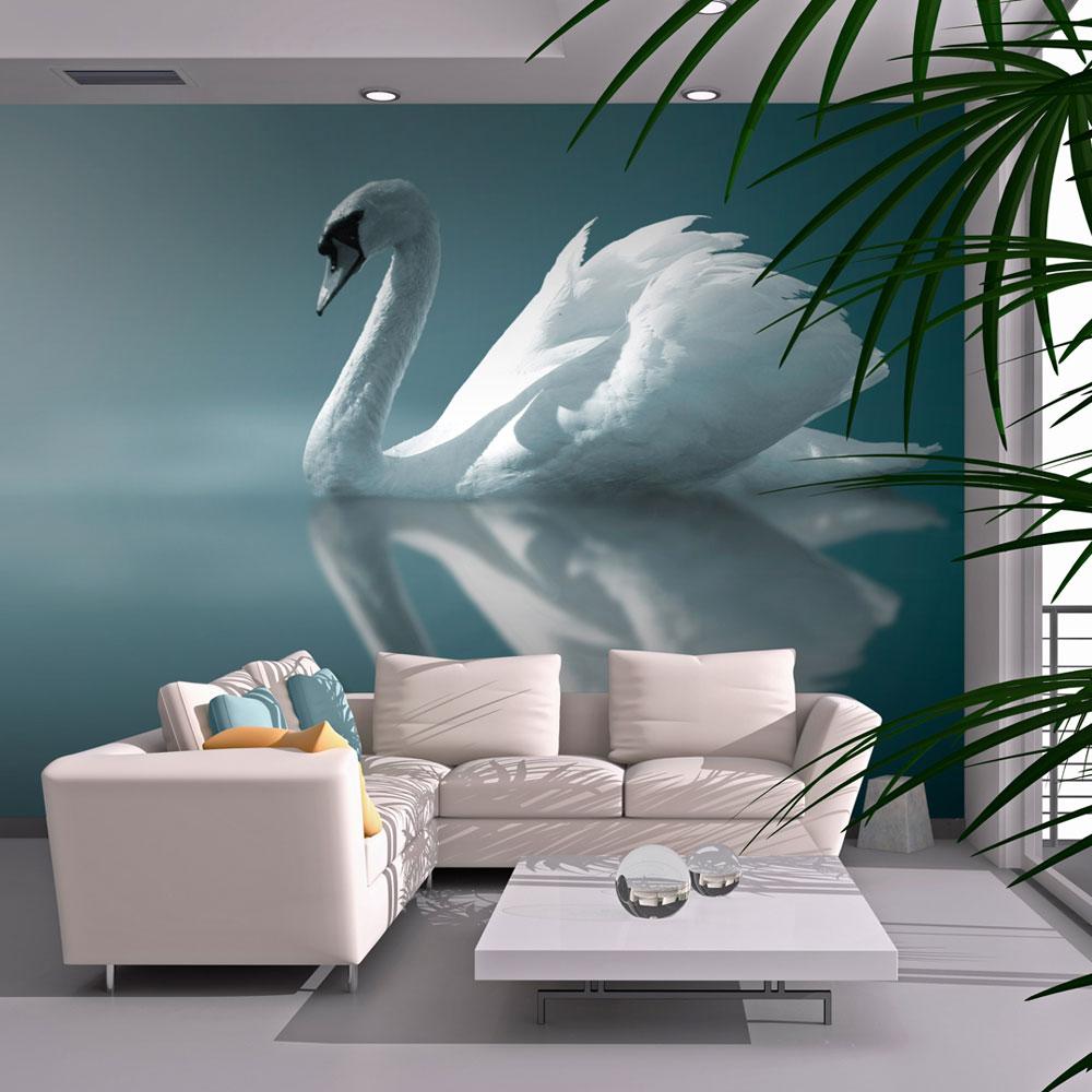 Fototapeta - White swan 400x309