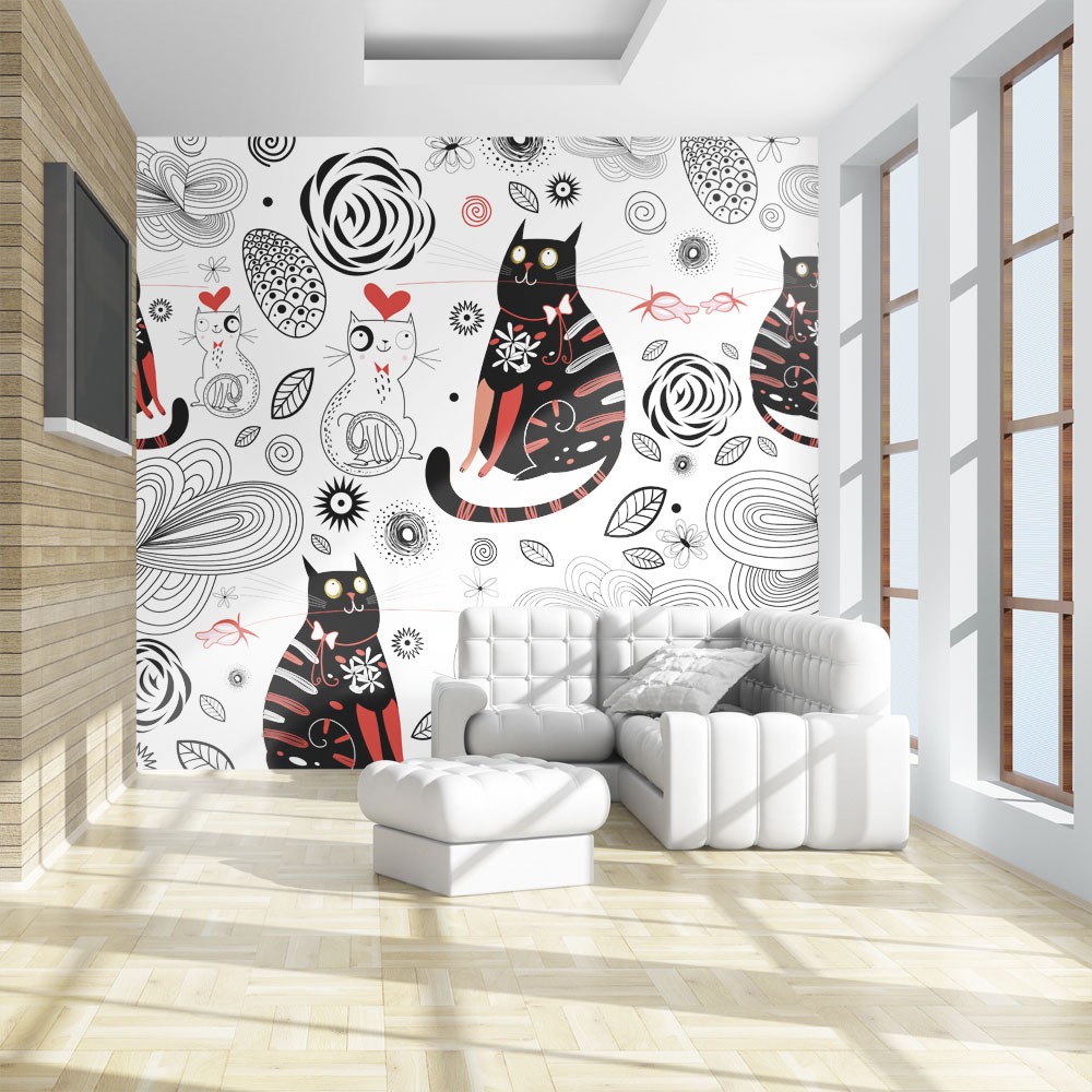 Fototapeta - Cats in love 350x270