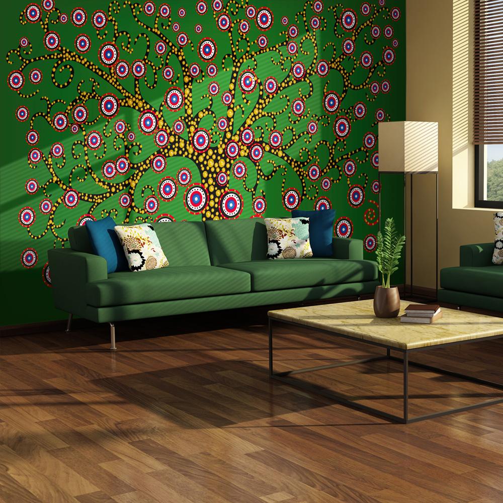 Fototapeta - abstrakce: strom (zelený) 400x309