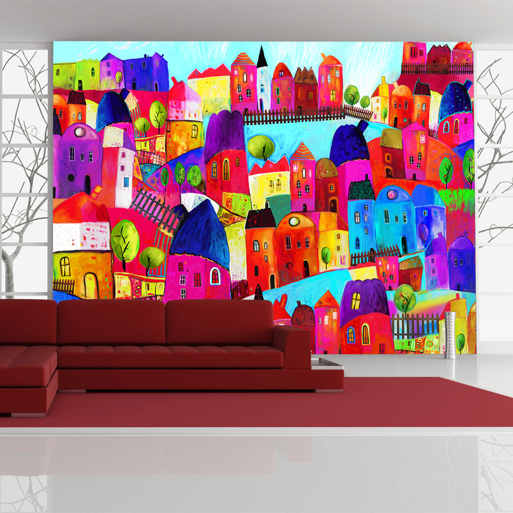 Fototapeta - Rainbow-hued town 300x231