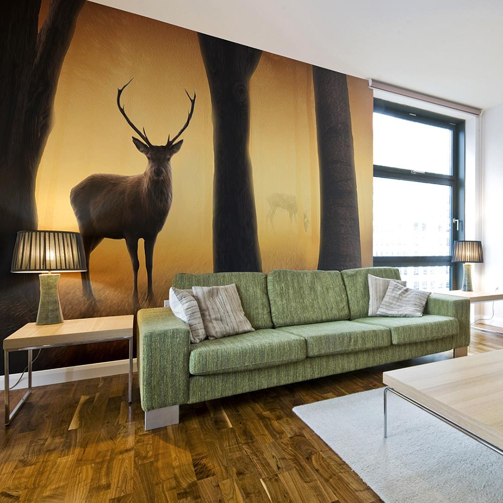 Fototapeta - Deer in his natural habitat 200x154