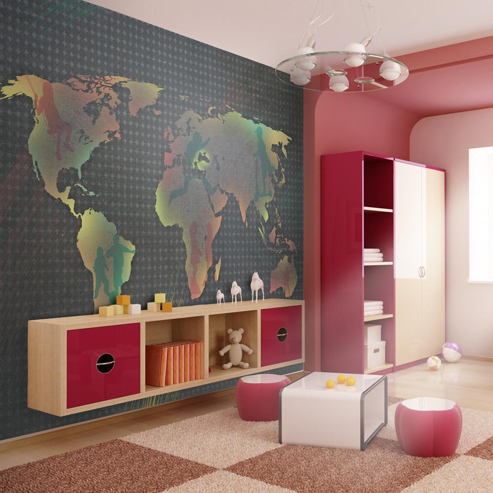 Fototapeta - mapa (pro děti) 300x231