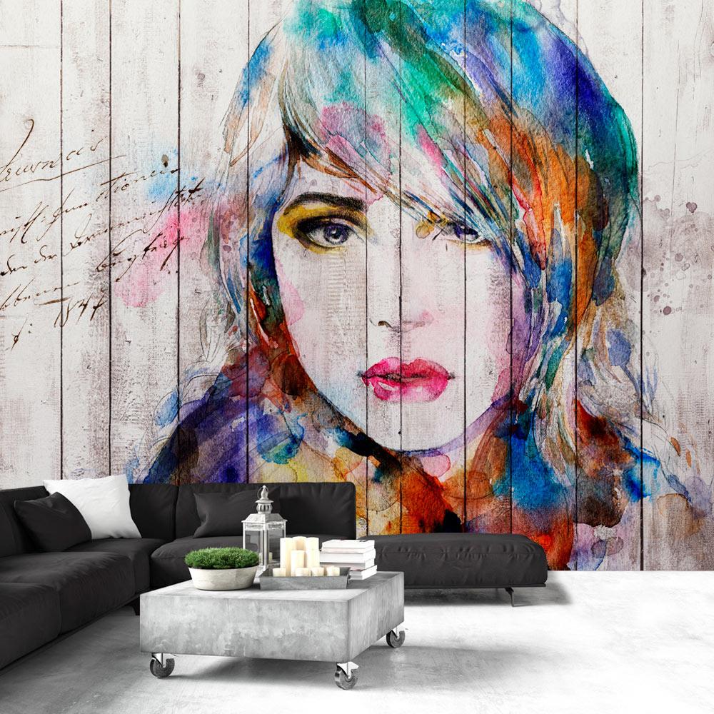 Fototapeta - Wooden Portrait 250x175