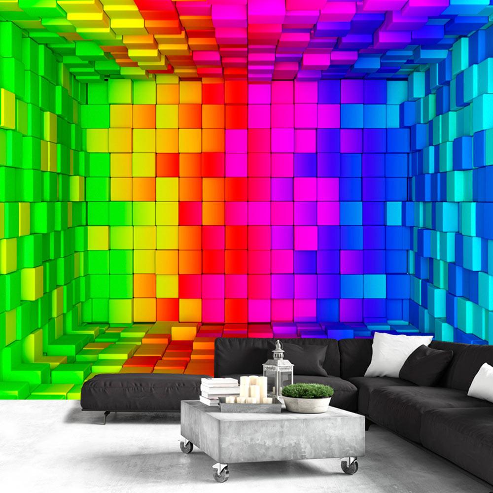Fototapeta - Rainbow Cube 350x245