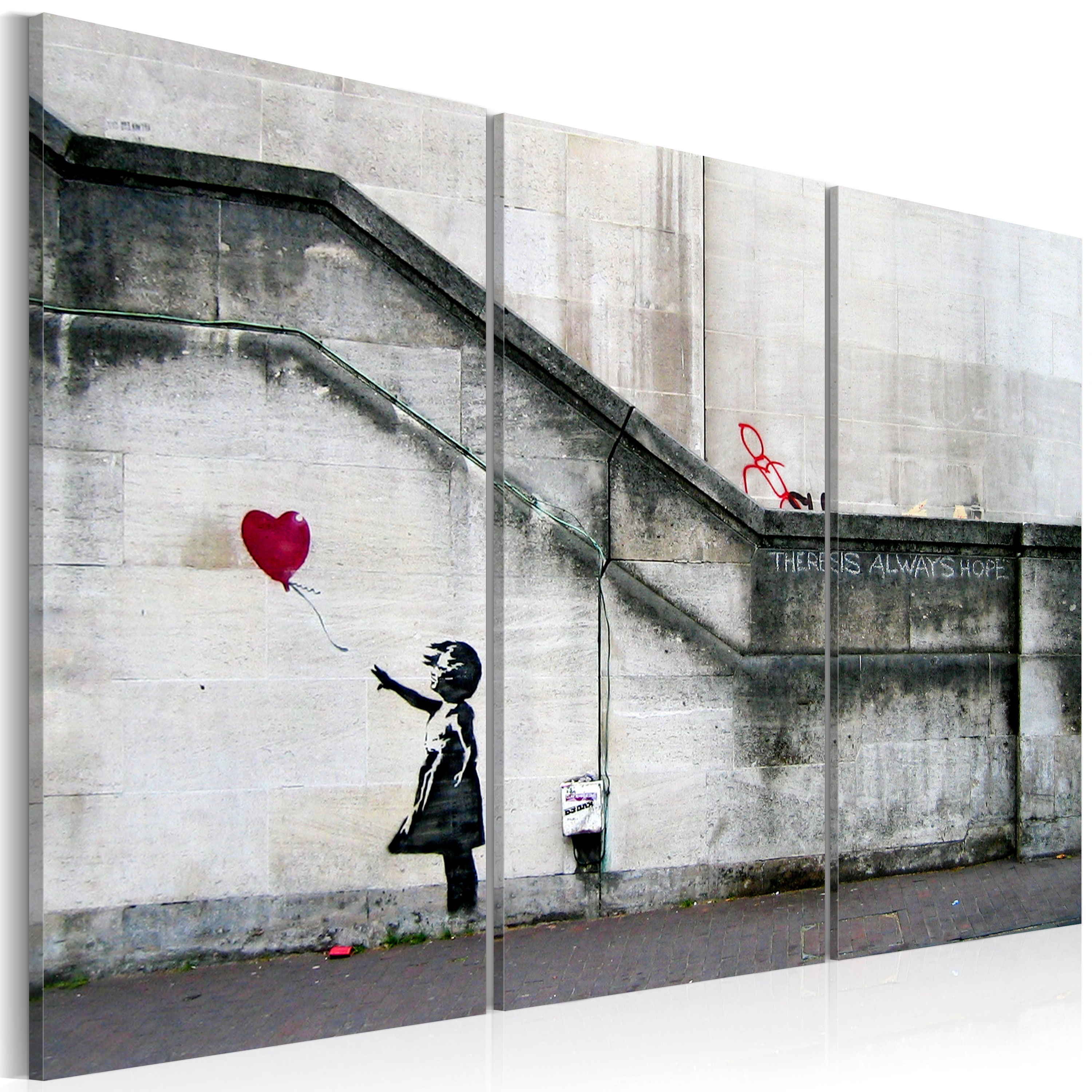 Obraz - Girl With a Balloon by Banksy 120x80