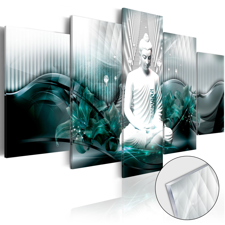 Obraz na akrylátovém skle - Azure Meditation [Glass] 100x50