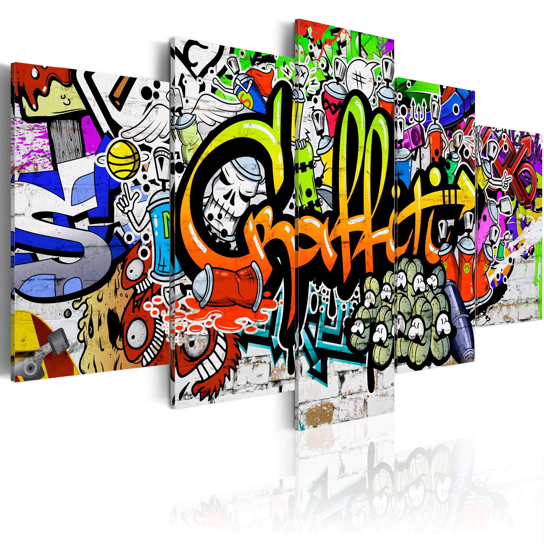 Obraz - Artistic Graffiti 200x100