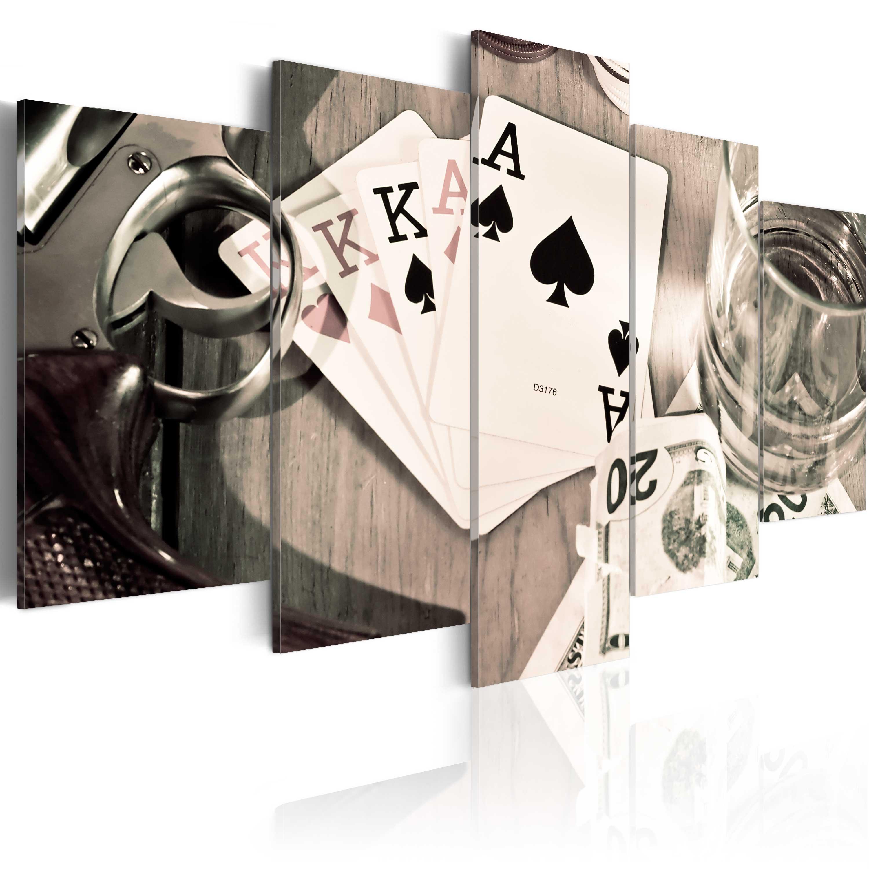 Obraz - Poker night 200x100