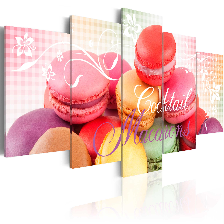 Obraz - Sweet macarons 100x50