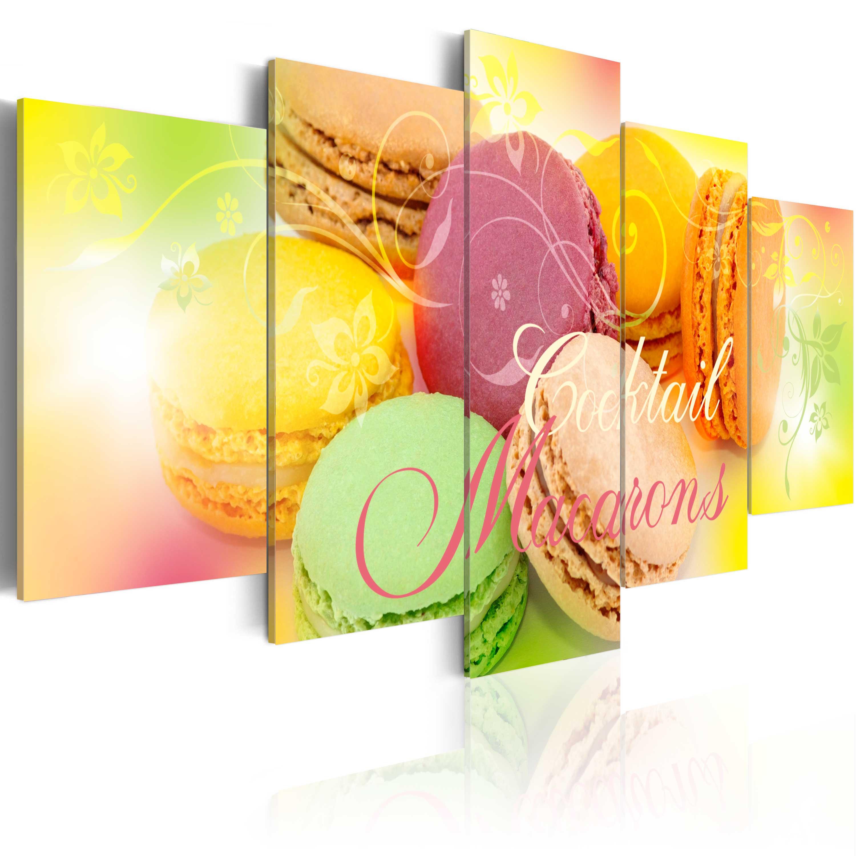 Obraz - Cocktail macarons 100x50