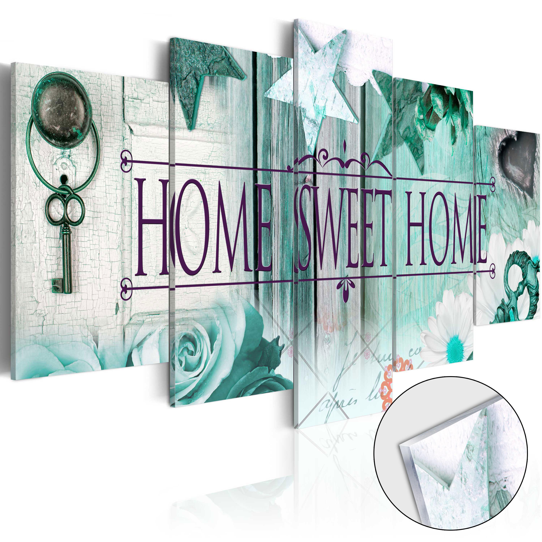 Obraz na akrylátovém skle - Key on Emerald Background [Glass] 200x100