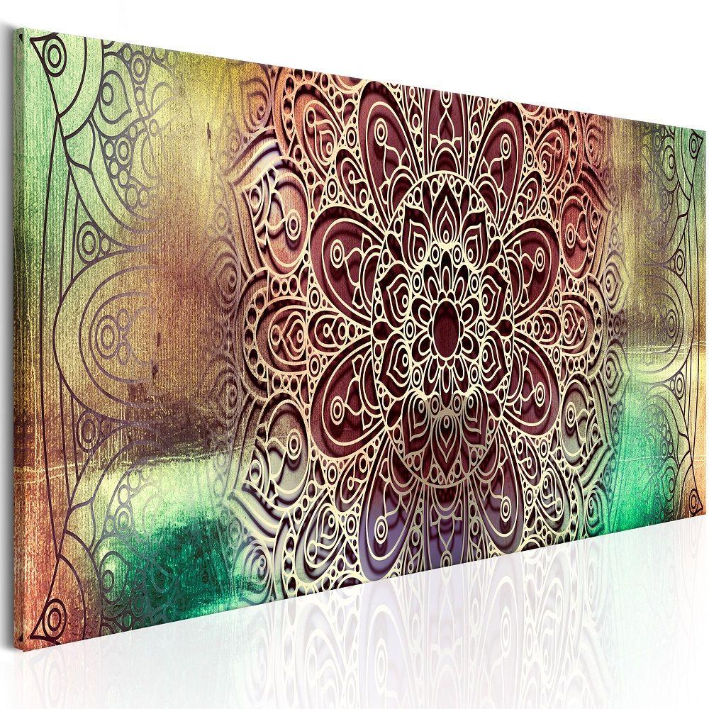 Obraz - Colourful Mandala 150x50