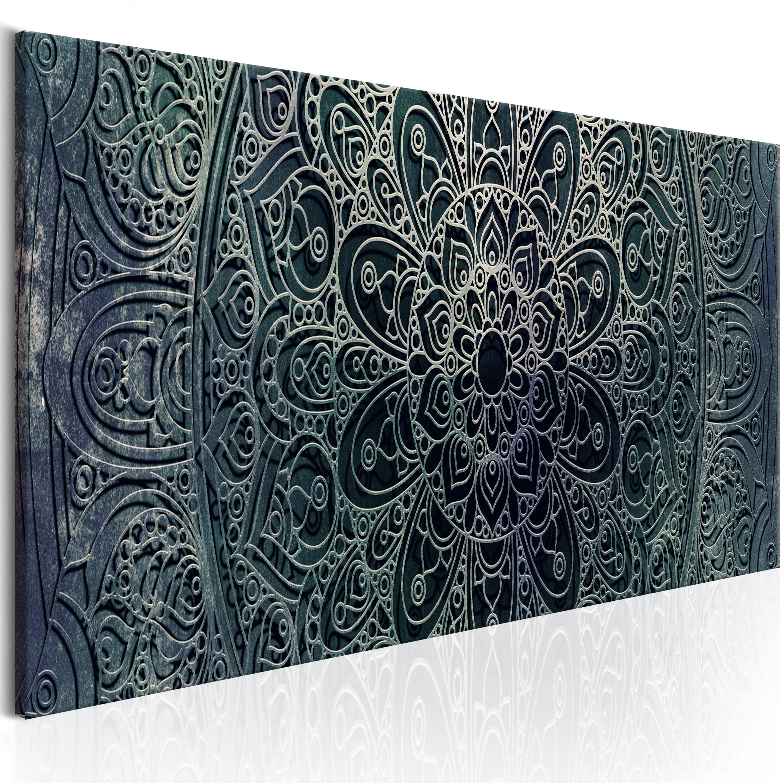Obraz - Mandala: Malachite Calm 150x50