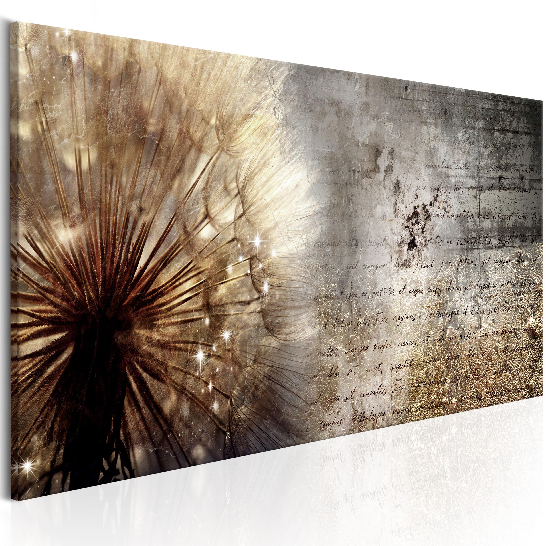 Obraz - Dandelion on Concrete 150x50