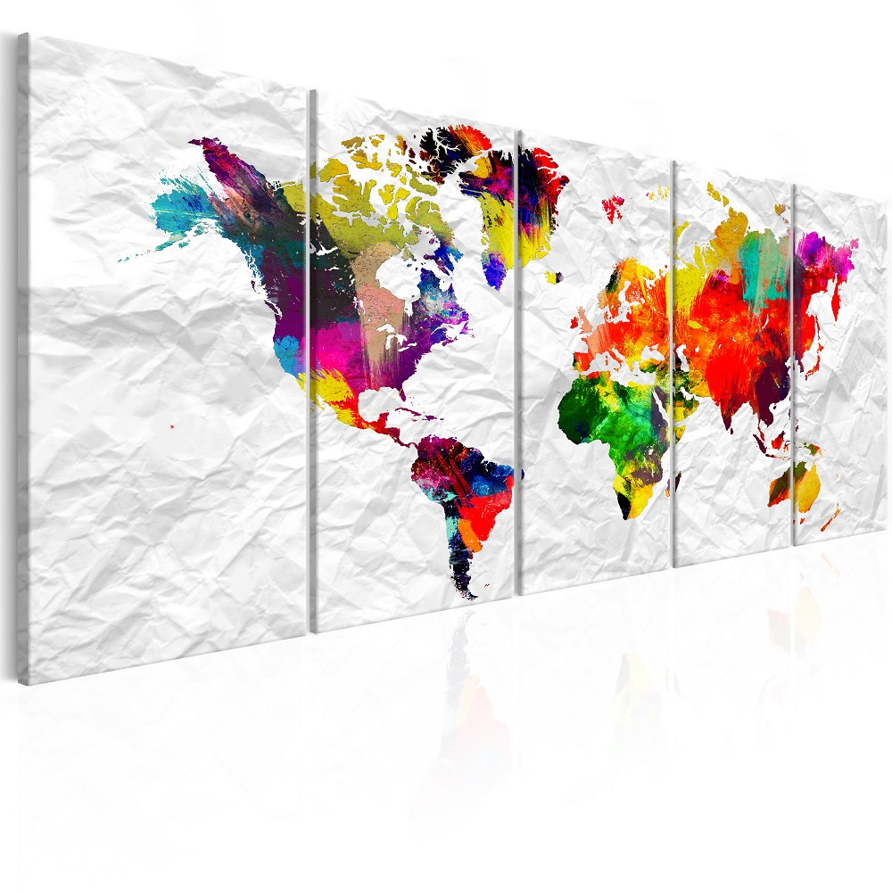 Obraz - World on Paper 200x80