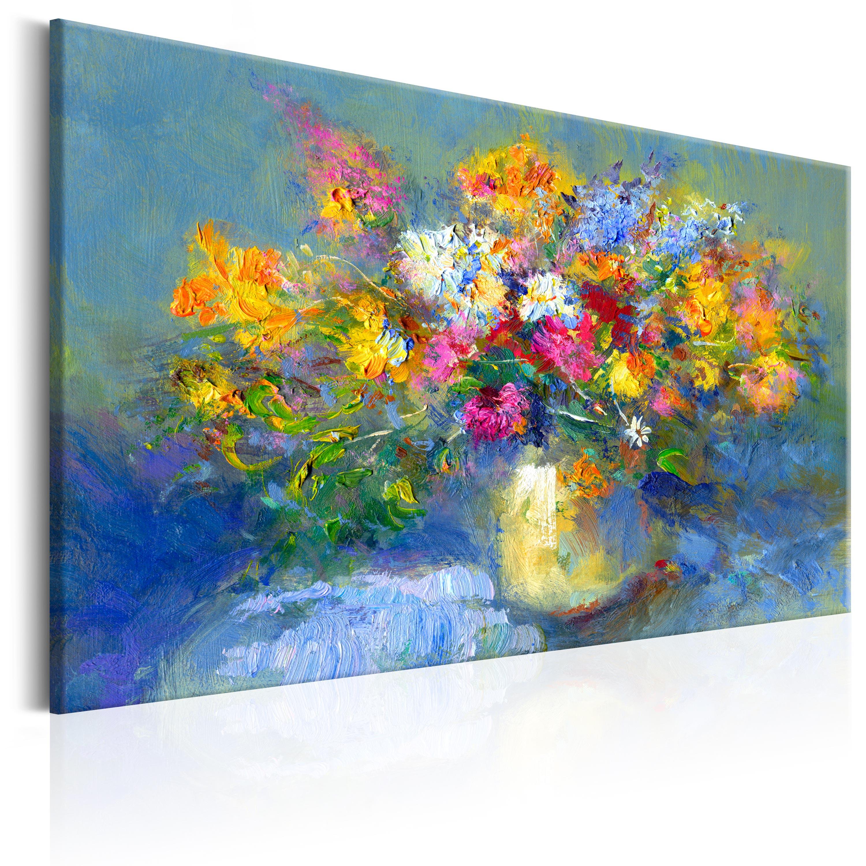 Ručně malovaný obraz -  Autumn Bouquet 90x60