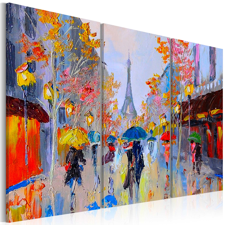 Ručně malovaný obraz - Rainy Paris 60x40