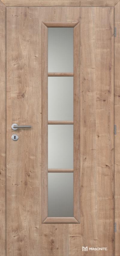 Interiérové dveře Masonite AXIS sklo CPL premium