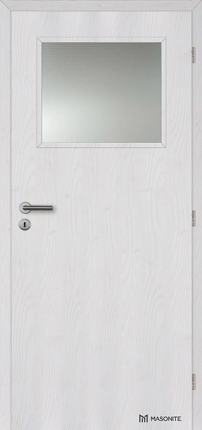 Interiérové dveře Masonite prosklené 1/3 Kašírovací fólie