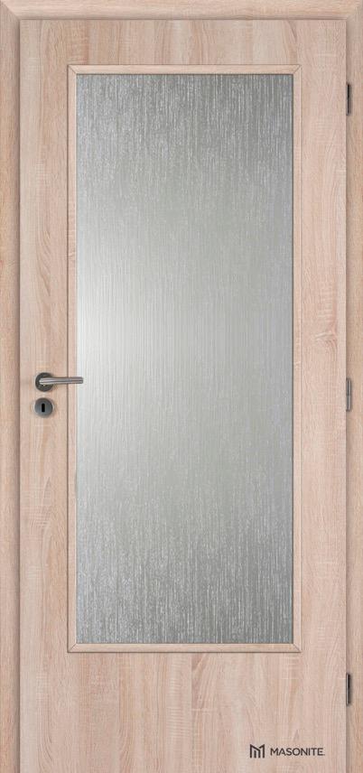 Interiérové dveře Masonite prosklené 3/4 Kašírovací fólie