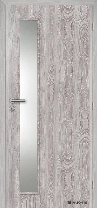 Interiérové dveře Masonite VERTIKA sklo Kašírovací fólie
