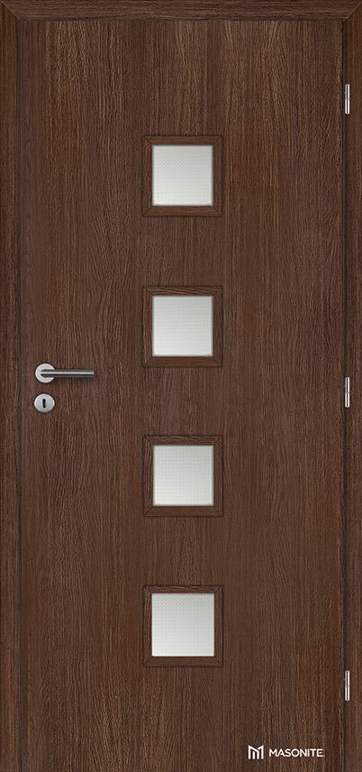 Interiérové dveře Masonite QUADRA sklo Kašírovací fólie