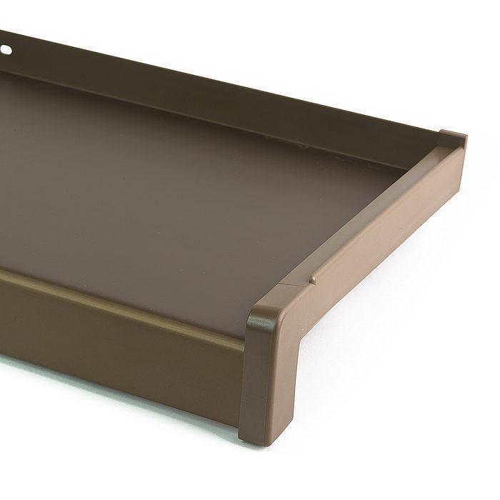 Venkovní hliníkový parapet tažený elox bronz šířka 70mm