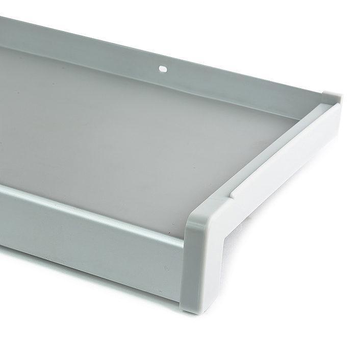 Venkovní hliníkový parapet tažený elox stříbrná - EV 1 šířka 90mm