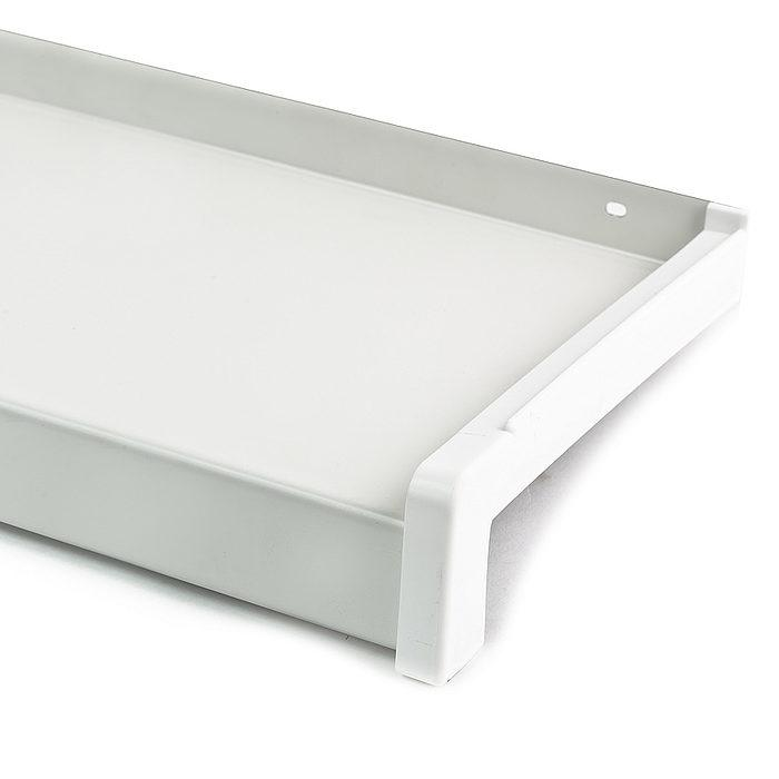 Venkovní parapet pozink bílá RAL 9010 šířka 180mm