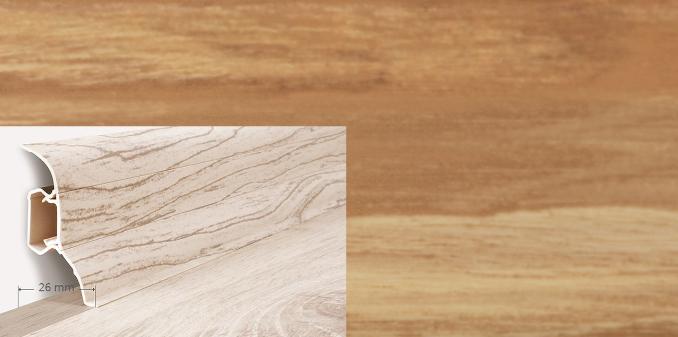 Soklová lišta QUADRO v dekoru  jasan bílý (006Q)