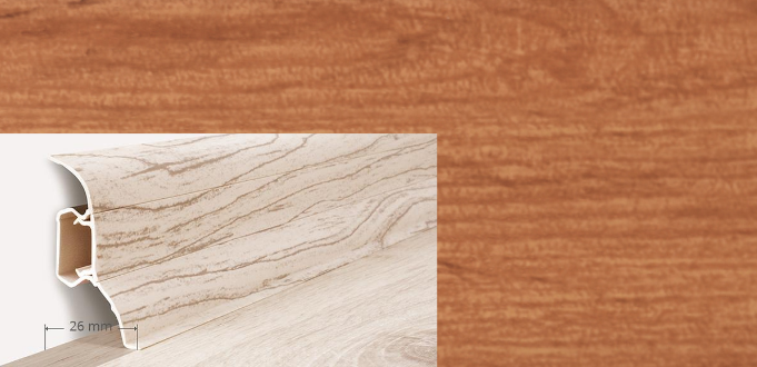 Soklová lišta QUADRO v dekoru dub antický (007Q)