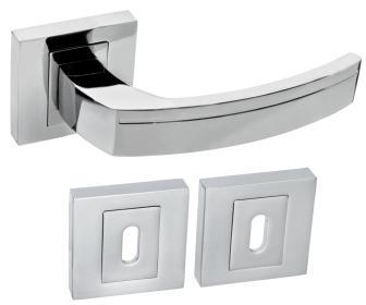Rozetové kování FABIO QR8 chrom s rozetou BB obyčejný klíč