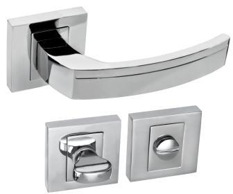 Rozetové kování FABIO QR8 chrom s rozetou WC