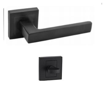DumTrade rozetové kování QUADRO QR15 WC matná černá