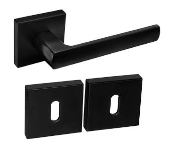DumTrade rozetové kování HUGO QR14 BB polomatná černá