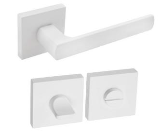 DumTrade rozetové kování HUGO QR14 WC matná bílá
