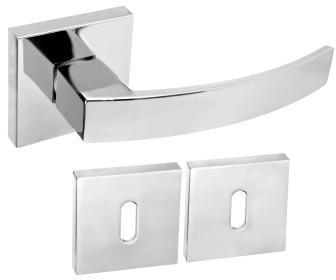 Rozetové kování DumTrade MILO QR14 chrom lesklý s rozetou BB obyčejný klíč