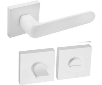 DumTrade rozetové kování IKAR QR14  WC matná bílá