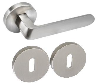 Rozetové kování DumTrade IVETTE R9 nikl matný s rozetou BB obyčejný klíč