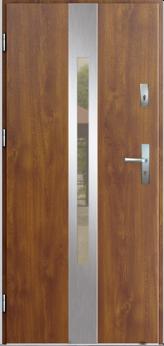 Vchodové dveře do domu MIKEA Thermika Elevado 2 s vitráží