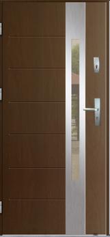 Vchodové dveře do domu MIKEA Thermika Elevado 1 T6 s vitráží