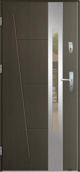 Vchodové dveře do domu MIKEA Thermika Elevado 1 T8  s vitráží