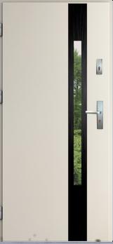 Vchodové dveře do domu MIKEA Thermika Elevado 1 s vitráží